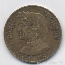 Medallas históricas: MEDALLA DE DANTE ALIGHIERI-ITALIA. Lote 56306271