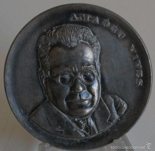 MEDALLA DE AMADEU VIVES (Numismática - Medallería - Histórica)