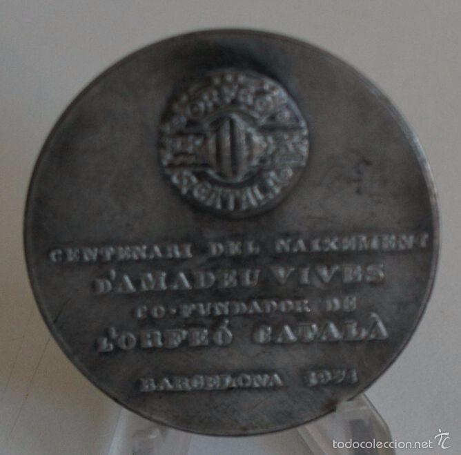 Medallas históricas: MEDALLA DE AMADEU VIVES - Foto 2 - 56388410