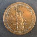 Medallas históricas: MEDALLA CENTENARIO ESTATUA DE LA LIBERTAD 1865-1965 USA. Lote 56861796