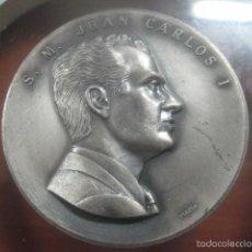 Medallas históricas: GRAN MEDALLA DE LA CORONACION DE JUAN CARLOS I COMO REY DE ESPAÑA, 22-NOV-1975, GRABADA PUJOL. Lote 57024071