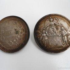 Medallas históricas: RARA MEDALLA PARA EXPOSITOR ORIGINAL DE LA EXPOSICION REGIONAL DE VILLANUEVA Y GELTRU - 1882. Lote 56600611
