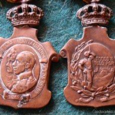 Medallas históricas: DOS MEDALLAS HOMENAJE DE LOS AYUNTAMIENTOS A LOS REYES.23 ENERO DE 1925. Lote 57094662