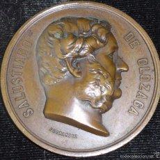 Medallas históricas: MEDALLA CONMEMORATIVA DE SALUSTIANO OLAZAGA,RIOJA ALAVESA OYON. Lote 57396917