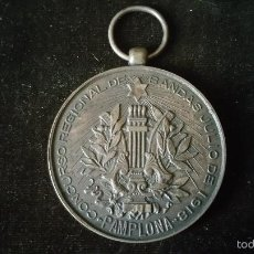 Medallas históricas: MEDALLA DE CONCURSO REGIONAL DE BANDAS DE PAMPLONA 1918. Lote 57402813