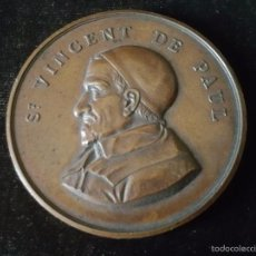 Medallas históricas: MEDALLA CONMEMORATIVA A SAN VICENT DE PAUL SIGLO XIX. Lote 57402929