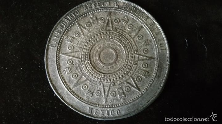 MEDALLA CONMEMORATIVA DEL SOL DE PIEDRA,CALENDARIO AZTECA (Numismática - Medallería - Histórica)