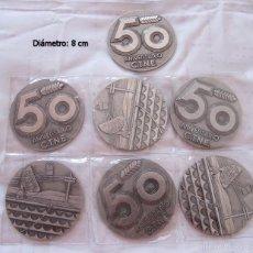 Medallas históricas: LOTE 7 MEDALLAS 50 ANIVERSARIO TELEFONICA. Lote 57529006