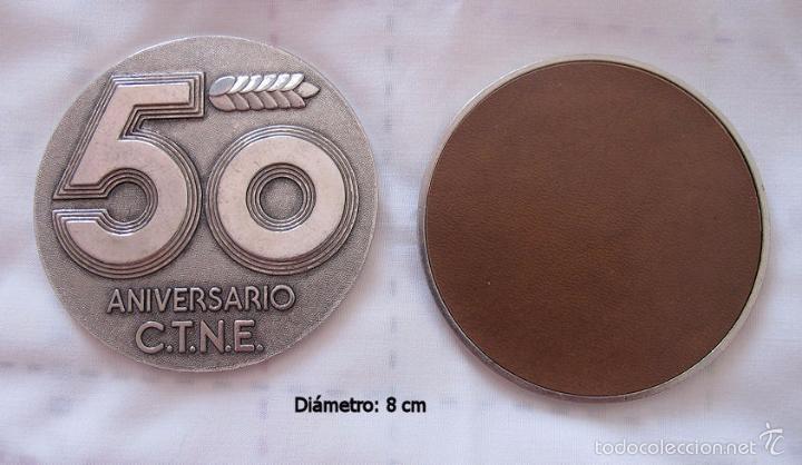Medallas históricas: LOTE 7 MEDALLAS 50 ANIVERSARIO TELEFONICA - Foto 2 - 57529006