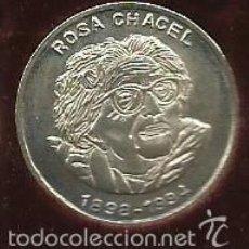 Medallas históricas: MEDALLA MONEDA DE PLATA 925/000 DE PERSONAJE DE VALLADOLID ROSA CHACEL DIAMETRO 22 MM.. Lote 57532024