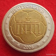 Medallas históricas: MEDALLA ALEMÁNIA, 2005 FUTBOL, TIPO 2 EURO EUROPRUEBA, PATTERN, ESSAI, SPECIMEN, BIMETÁLICA. Lote 57614537