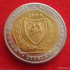 Medallas históricas: MEDALLA CHIPRE, 2004, TIPO 2 EURO EUROPRUEBA, PATTERN, ESSAI, SPECIMEN, BIMETÁLICA. Lote 57614724