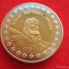 Medallas históricas: MEDALLA SUIZA, 2003, TIPO 2 EUROP EUROPRUEBA, PATTERN, ESSAI, SPECIMEN, BIMETÁLICA. Lote 57614798