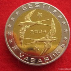 Medallas históricas: MEDALLA ESTONIA, 2004, TIPO 2 EURO EUROPRUEBA, PATTERN, ESSAI, SPECIMEN, BIMETÁLICA. Lote 57615027