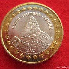 Medallas históricas: MEDALLA SUIZA, 2003, TIPO 1 EUROP EUROPRUEBA, PATTERN, ESSAI, SPECIMEN, BIMETÁLICA. Lote 57615180