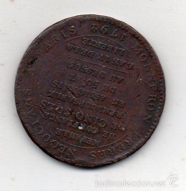 Medallas históricas: Francia. Medalla en Cobre muy antigua. Vivre Libres ou Mourir. Año 1792. - Foto 2 - 57687095