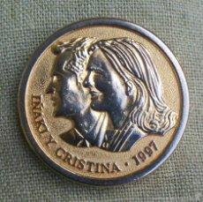 Medallas históricas: IÑAKI URDANGARIN Y CRISTINA DE BORBON *** MEDALLA ENLACE REAL (BARCELONA 1997) ***. Lote 103743724
