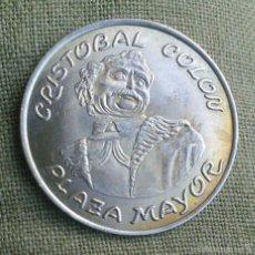 Medallas históricas: CRISTOBAL COLON *** MEDALLA PERSONAJES ILUSTRES HISTORICOS *** PLATA 800 ***. Lote 109384962