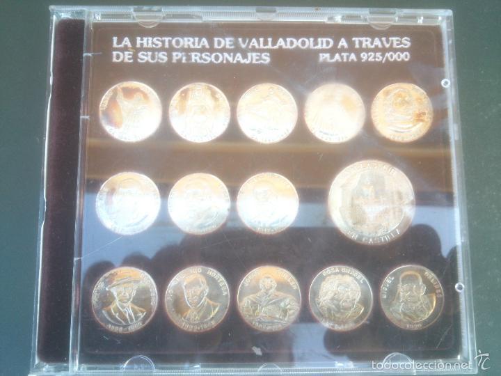 LA HISTORIA DE VALLADOLID A TRAVES DE SUS PERSONAJES. EN PLATA (Numismática - Medallería - Histórica)