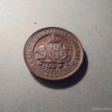 Medallas históricas: ANTIGUA MEDALLA - EXPOSICION GENERAL CATALANA BARCELONA 1871 BRONCE PREMIO AL MERITO - 5 CM. . Lote 59750040
