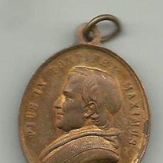 Medallas históricas: MEDALLA DE COBRE DEL CONCILIO ECUMENICO VATICANO 1869 PONTIFICE MAXIMUS PIO IX VER FOTOS. Lote 60322375