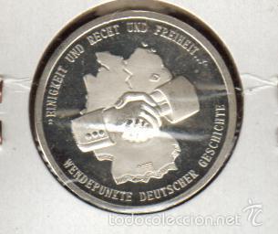 Medallas históricas: PRECIOSA MEDALLA DE PLATA CONMEMORATIVA DE LA LIBRE CIRCULACION EN ALEMANIA LA DE LAS FOTOS - Foto 2 - 60420567