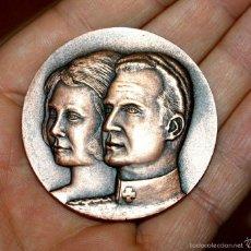 Medallas históricas: MEDALLA 1ª VISITA OFICIAL DE S.S.M.M. ELS REIS D'ESPANYA A CATALUNYA. DIP. BCN. REYES. Lote 60738195