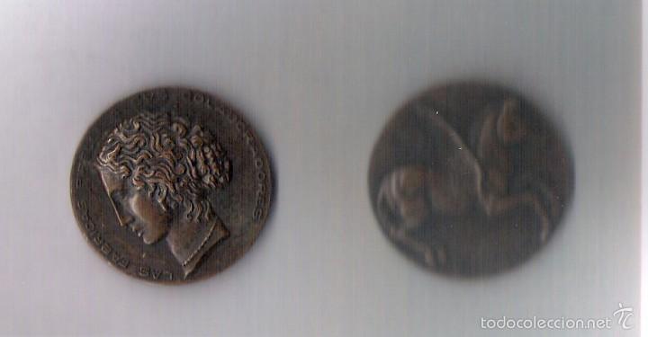 LAS FABRICAS DE PIRELLI A SUS COLABORADORES 1902-1927 VILLANUEVA Y GELTRU (Numismática - Medallería - Histórica)