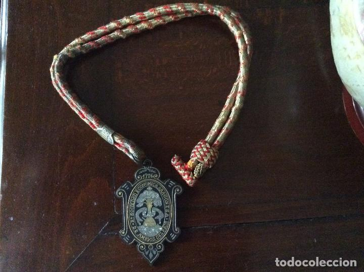 Medallas históricas: SOCIEDAD ECONOMICA ARAGONESA 1776. DE AMIGOS DEL PAIS. - Foto 3 - 62373196
