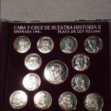 Medallas históricas: CARA Y CRUZ DE NUESTRA HISTORIA II GRANADA1995 PLATA 925/000. Lote 64874179
