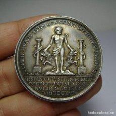 Medallas históricas: MEDALLA BODA DE FERNANDO VII E ISABEL DE PORTUGAL. PLATA. CÁDIZ - 1816. (ARA EN PLATA). Lote 65550630