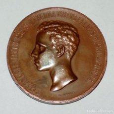 Medallas históricas: MEDALLA MAYORIA DE EDAD DE ALFONSO XIII, 1902 (6 CMS. DE DIAMETRO), GRABADOR: B. MAURA, TAL COMO SE . Lote 66214970