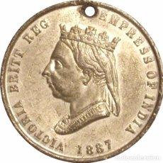Medallas históricas: INGLATERRA. REINA VICTORIA. MEDALLA DEL JUBILEO 50 ANIVERSARIO. 1.887. Lote 68845517