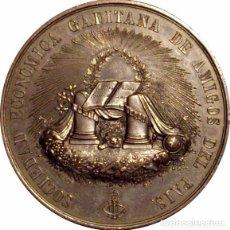 Medallas históricas: ESPAÑA. MEDALLA DE LA EXPOSICIÓN REGIONAL DE CÁDIZ 1.879. CON CAJA. Lote 68899469