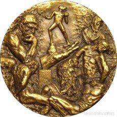 Medallas históricas: MEDALLA DE LA SERIE HOMENAJE A LAS ARTES, DEDICADA A LA ESCULTURA. 1.979. BRONCE. Lote 69199625