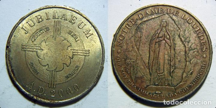 MEDALLA DE NOTRE DAME DE LOURDES 2000 (Numismática - Medallería - Histórica)