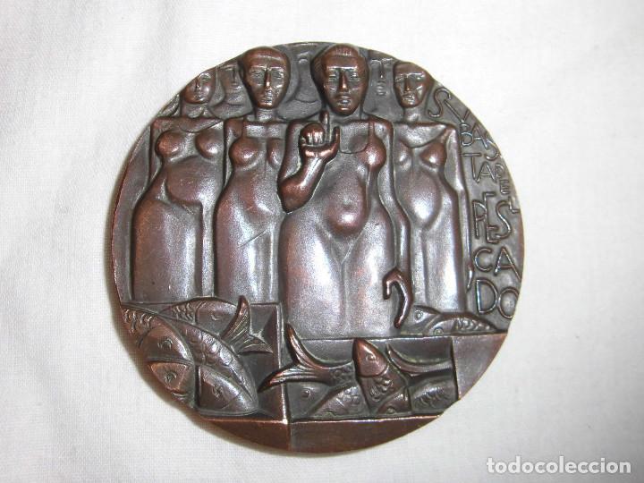 MEDALLA F.N.M.T. 1971.SUBASTA DE PESCADORES.BRONCE (Numismática - Medallería - Histórica)