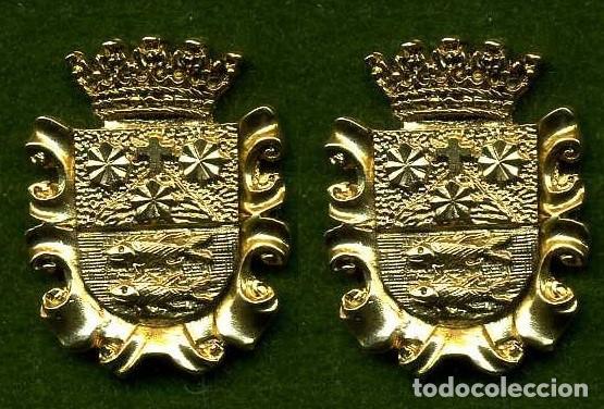 2 MEDALLAS INSIGNIAS ORO DE LA PROVINCIA DE CADIZ ( BARBATE ) Nº39 Y 40 (Numismática - Medallería - Histórica)