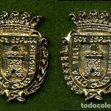 Medallas históricas: 2 MEDALLAS INSIGNIAS ORO DE LA PROVINCIA DE CADIZ ( ESPERA ) Nº45 Y 46. Lote 73296295