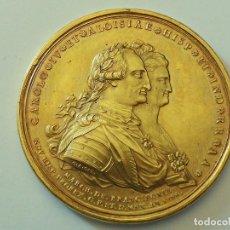 Medallas históricas: MEDALLA AL MONUMENTO ECUESTRE DE CARLOS IV. EL CABALLITO. 1796. MUY RARA EN ÉSTE DIÁMETRO Y PESO.. Lote 73819379