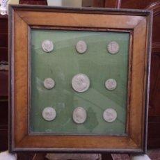 Medallas históricas: DECORATIVO GRUPO DE MEDALLAS S. XIX DE PASTA. Lote 75681683