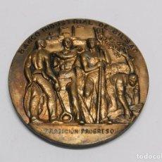 Medallas históricas: MONEDA DEL BANCO INDUSTRIAL DE BILBAO, TRADICION PROGRESO, 107 AÑOS, MIDE 7,7 CMS DE DIAMETRO.. Lote 76582303