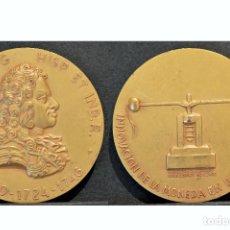 Medallas históricas: MEDALLA EN BRONCE RETRATOS MONETARIOS REYES DE ESPAÑA FELIPE V . Lote 77903841
