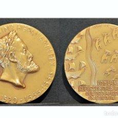Medallas históricas: MEDALLA EN BRONCE RETRATOS MONETARIOS REYES DE ESPAÑA CARLOS V. Lote 77904085