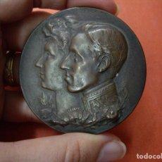 Medallas históricas: GRAN MEDALLA DE BRONCE EXPOSICION HISPANO-FRANCESA - ZARAGOZA 1908. Lote 77904357
