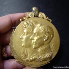 Medallas históricas: RARA MEDALLA DE CATEGORIA ORO - EXPOSICION HISPANO-FRANCESA - ZARAGOZA 1908. Lote 77906049