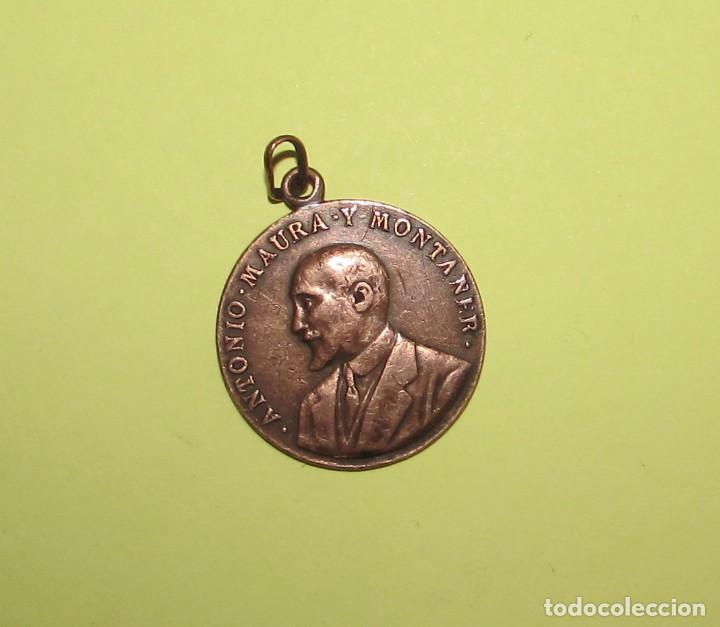 ANTONIO MAURA Y MONTANER - 1917 - MEDALLA ORIGINAL (Numismática - Medallería - Histórica)