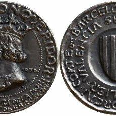 Medallas históricas: MEDALLA JAUME I 1276*1976 - PLATA. Lote 78148729