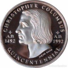 Medallas históricas: USA. MEDALLA V CENTENARIO DESCUBRIMIENTO AMÉRICA. 1.992. 2 ONZAS PLATA PROOF. Lote 78312013