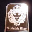 Medallas históricas: LINGOTE DE 1 BAÑADO EN PLATA 999 - SCOTTSDALE - EN CAJA PROTECTORA - OJO NO ES PLATA MACIZA. Lote 79602957